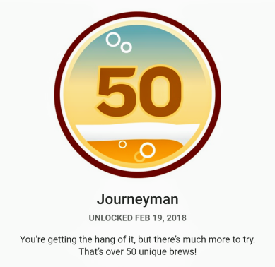 Untappd Journeyman Badge
